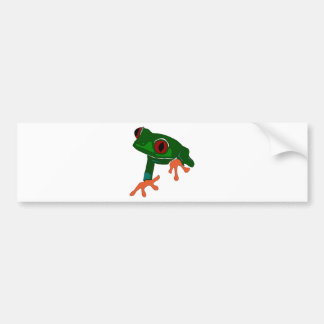 Pegatina Para Coche Dibujo animado de la rana verde