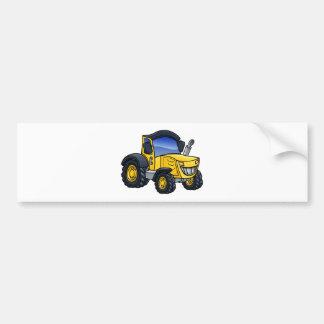 Pegatina Para Coche Dibujo animado del vehículo del tractor