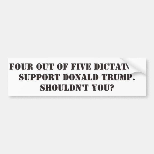 Pegatina Para Coche Dictadores Support Donald Trump