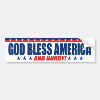 Pegatina Para Coche Dios bendice América y se apresura - a presidente