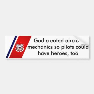 Pegatina Para Coche Dios creó a mecánicos de aviones