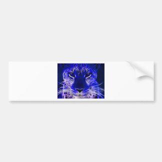 Pegatina Para Coche diseño azul del fractal del guepardo