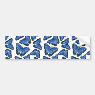 Pegatina Para Coche Diseño azul del modelo de mariposa del morpho