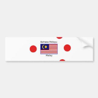 Pegatina Para Coche Diseño de la lengua de la bandera y del Malay de