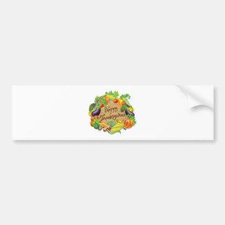 Pegatina Para Coche Diseño feliz de la verdura y de las frutas de la
