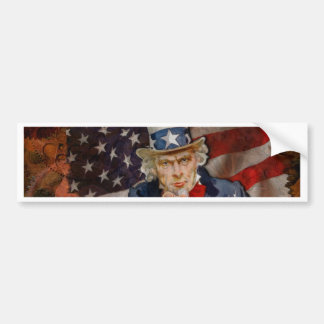 Pegatina Para Coche Diseño patriótico de la bandera de Steampunk Sam