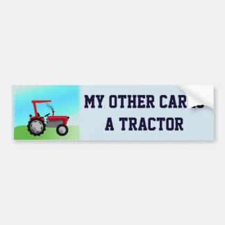 """Pegatina Para Coche Divertido """"mi otro coche es un tractor """""""