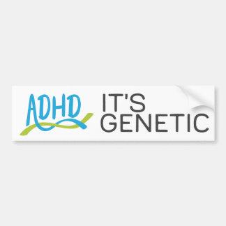 Pegatina Para Coche DNA de ADHD - Es genética