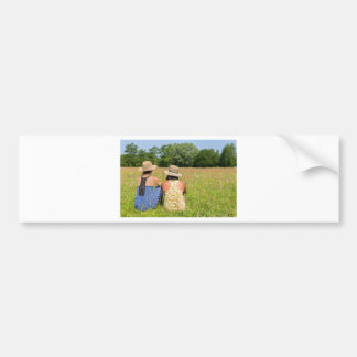 Pegatina Para Coche Dos amigos que se sientan junto en meadow.JPG