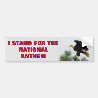 Pegatina Para Coche Eagle calvo norteamericano que represento el himno
