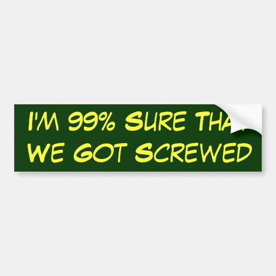 Pegatina Para Coche El 99% seguro conseguimos atornillados