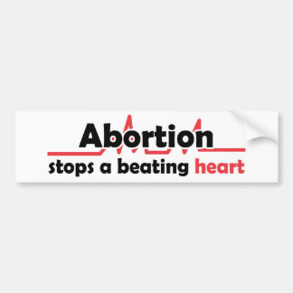 Pegatina Para Coche El aborto para un corazón de derrota