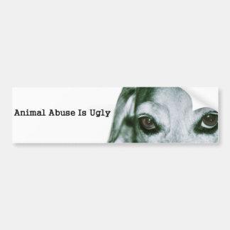 Pegatina Para Coche El abuso animal es feo
