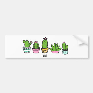 Pegatina Para Coche el agrupar de los cactus