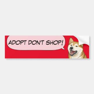 Pegatina Para Coche ¡El amor de Shiba Inu adopta un perro del refugio!