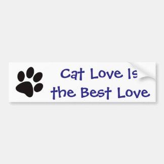 Pegatina Para Coche El amor del gato es el mejor amor