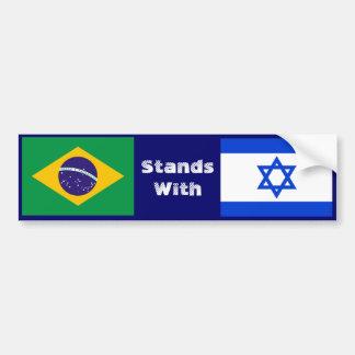 Pegatina Para Coche El Brasil se coloca con Israel