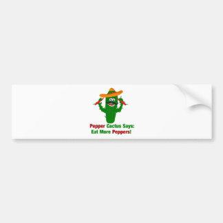 Pegatina Para Coche El cactus de la pimienta dice come más pimientas