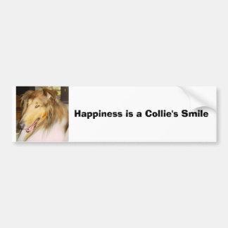 Pegatina Para Coche El COLLIE, felicidad es la sonrisa de un collie