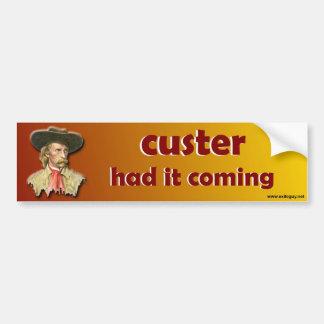 Pegatina Para Coche el custer lo tenía el venir