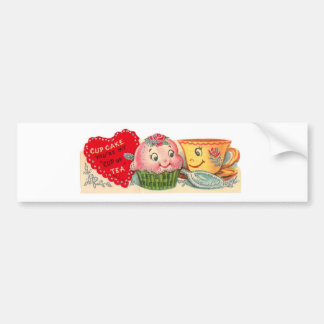 Pegatina Para Coche El día de San Valentín retro de la magdalena y de