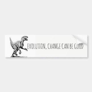 Pegatina Para Coche El dinosaurio de la evolución, cambio puede ser