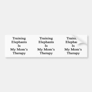 Pegatina Para Coche El entrenamiento de elefantes es la terapia de mi