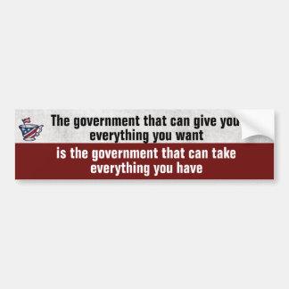 Pegatina Para Coche El gobierno da al gobierno se lleva político