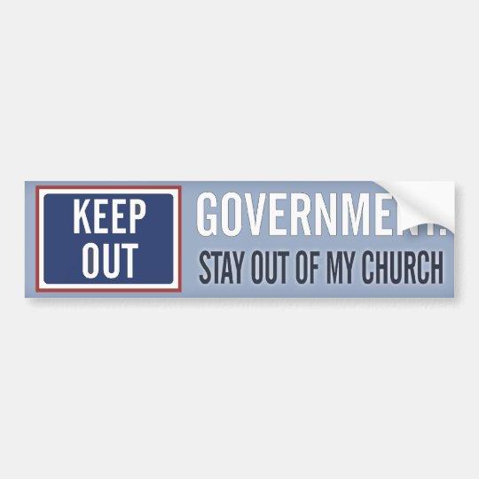 Pegatina Para Coche El gobierno guarda fuera de mi iglesia