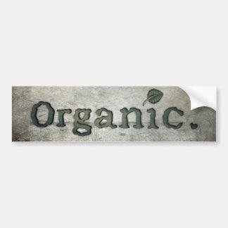 Pegatina Para Coche el ir orgánico para la salud
