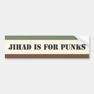 Pegatina Para Coche El Jihad está para los punks