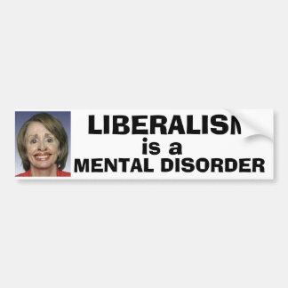 Pegatina Para Coche El liberalismo es un trastorno mental