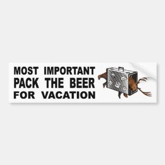 Pegatina Para Coche El más importante es embalar la cerveza para las