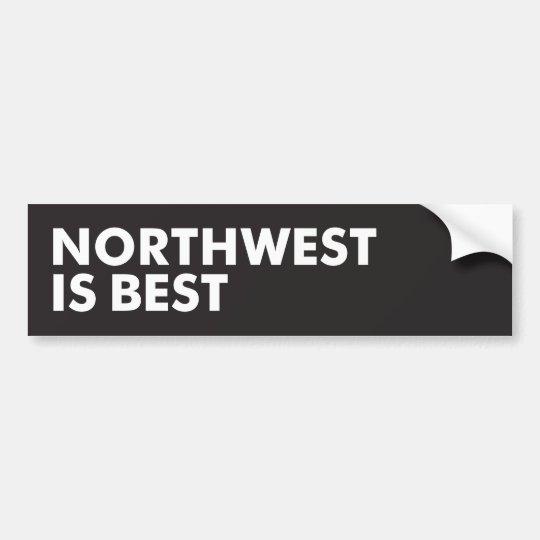 Pegatina Para Coche El noroeste es el mejor