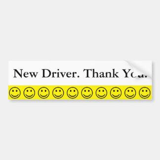 Pegatina Para Coche El nuevo conductor de la cara sonriente amistosa