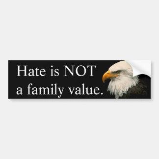 Pegatina Para Coche El odio no es un valor familiar