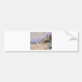 Pegatina Para Coche El paseo marítimo en Trouville Claude Monet
