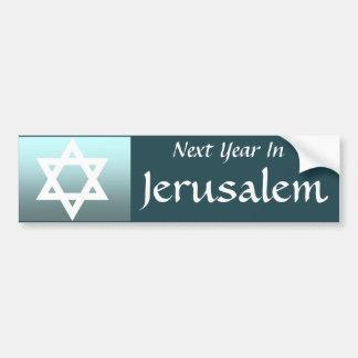 Pegatina Para Coche El próximo año en Jerusalén