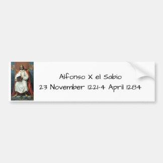 Pegatina Para Coche EL Sabio de Alfonso x