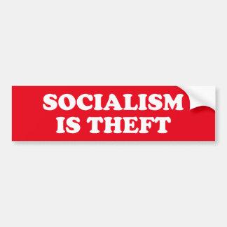 Pegatina Para Coche El socialismo es hurto