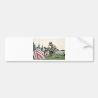 Pegatina Para Coche El soldado visita sepulcros el Memorial Day