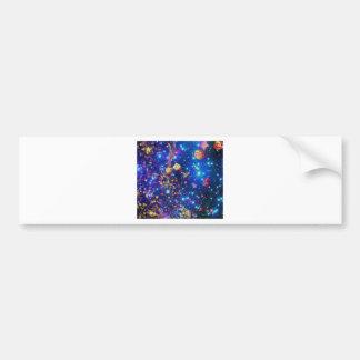 Pegatina Para Coche El universo y los planetas celebran vida con un