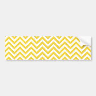 Pegatina Para Coche El zigzag amarillo y blanco raya el modelo de
