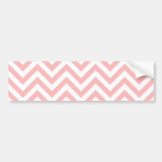 Pegatina Para Coche El zigzag rosado y blanco raya el modelo de