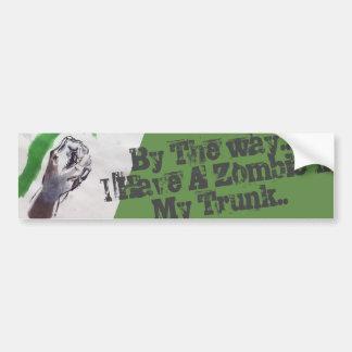 Pegatina Para Coche el zombi se guarda