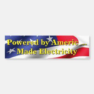Pegatina Para Coche electricidad Americano-hecha para mi EV