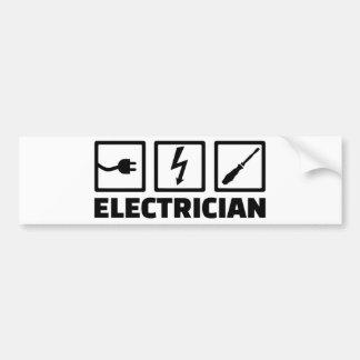 Pegatina Para Coche Electricista