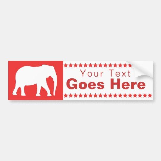 Pegatina Para Coche Elefante republicano
