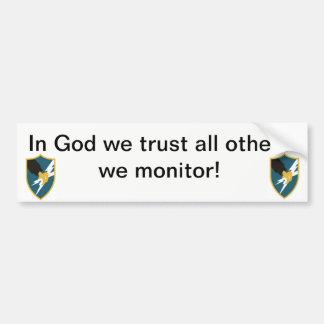 Pegatina Para Coche En dios confiamos en, todos los otros que