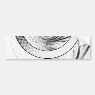 Pegatina Para Coche Enso, un círculo blanco y negro perfecto del